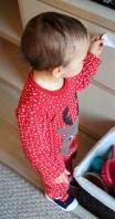 Z. w świątecznej piżamce
